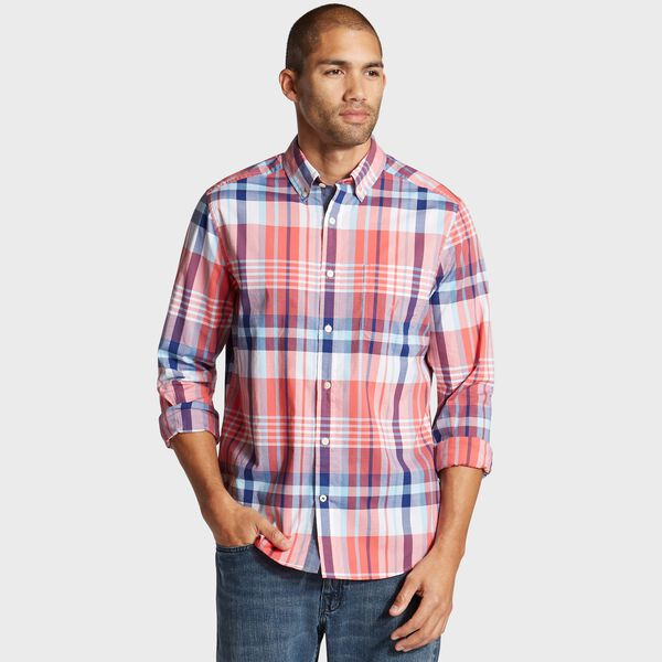 Classic Fit Shirt in Plaid - Spiced Coral