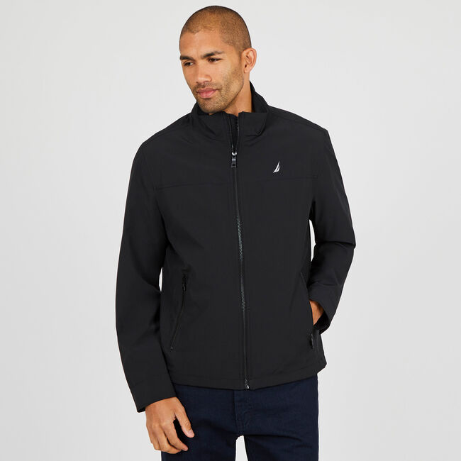 9c773ffaa505 Water Resistant Active Stretch Jacket,True Black,large