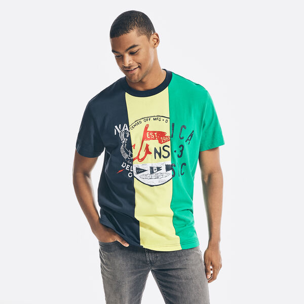 REISSUE COLORBLOCK GRAPHIC T-SHIRT - Navy