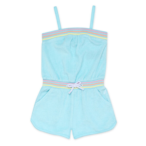 GIRLS' TERRY CLOTH ROMPER - Clear Sky Blue