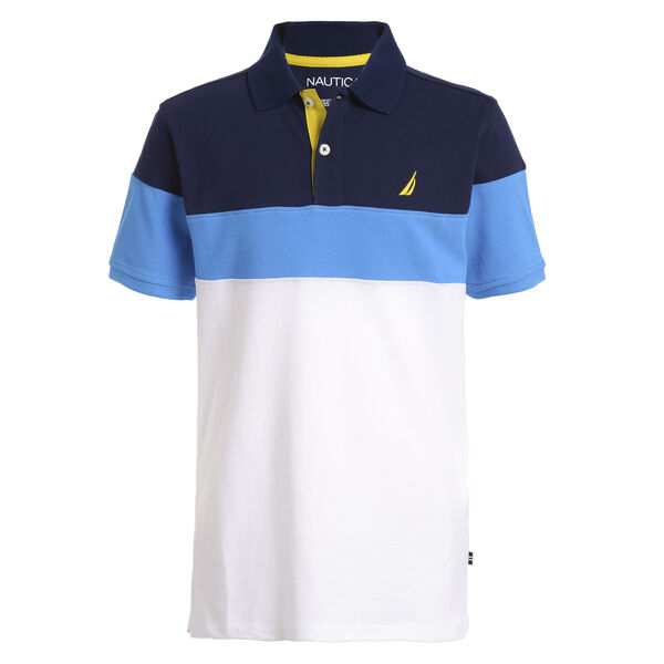 BOY'S JASPER POLO SHIRT - Oyster Bay Blue