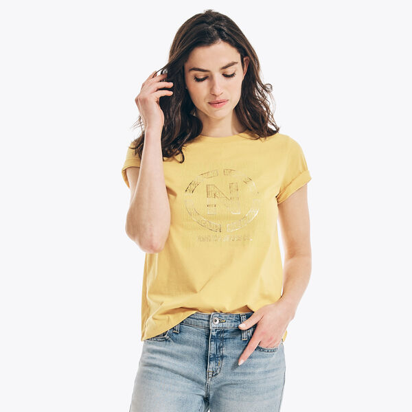 NAUTICA JEANS CO. SUSTAINABLY CRAFTED GRAPHIC T-SHIRT - Sun Fish Yellow
