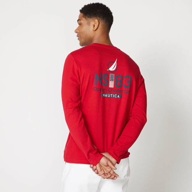 NS-83 OCEAN CHALLENGE LONG SLEEVE T-SHIRT,Nautica Red,large