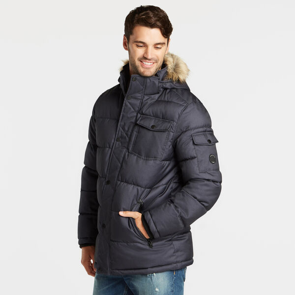 BIG & TALL PARKA WITH REMOVABLE HOOD - Pure Deep Bay Wash