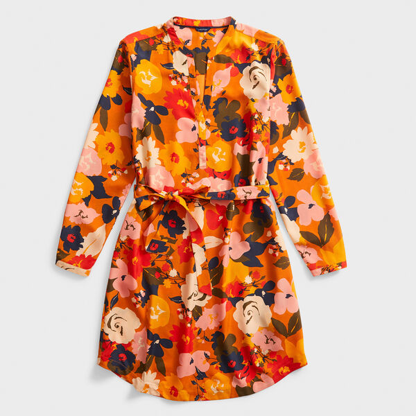 FLORAL BELTED SHIRT DRESS - Kernel