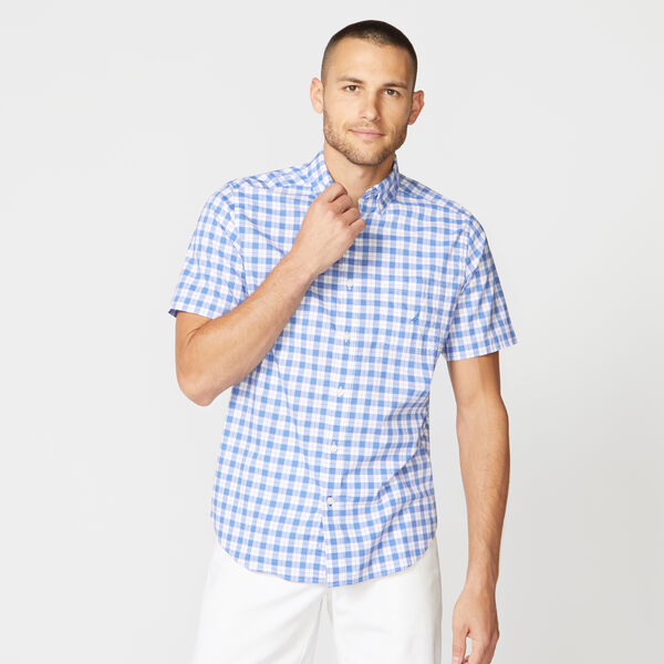CLASSIC FIT PLAID STRETCH POPLIN SHIRT - Star Sapphire