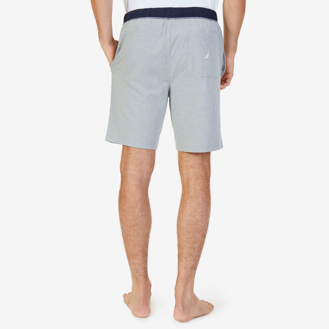 Heritage Logo Sleep Shorts,Grey Heather,large