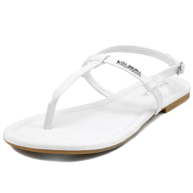 Belo T-Strap Sandals,White,large