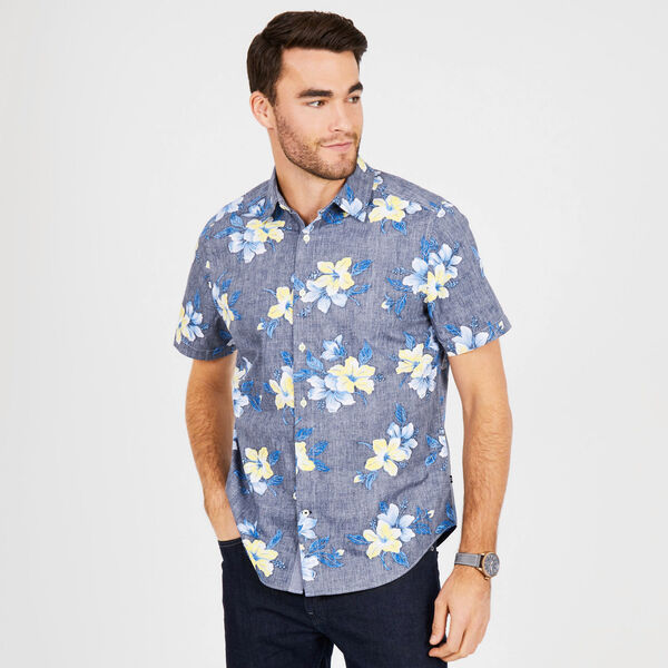 Floral Classic Fit Button-Down Shirt - Peacoat