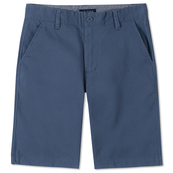 TODDLER BOYS' CONNOR STRETCH TWILL SHORTS  (2T - 4T) - Bolt Blue