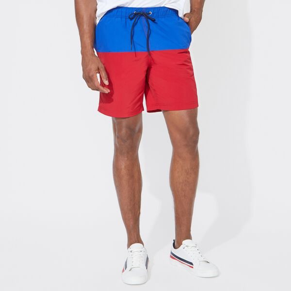 "8"" TWO-TONE SWIM SHORT - Nautica Red"