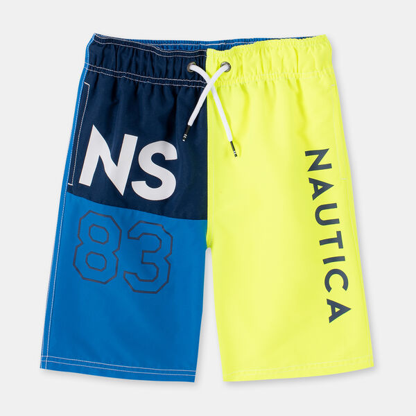 LITTLE BOYS' COVE NS83 COLORBLOCK SWIM TRUNKS (4-7) - Firefly