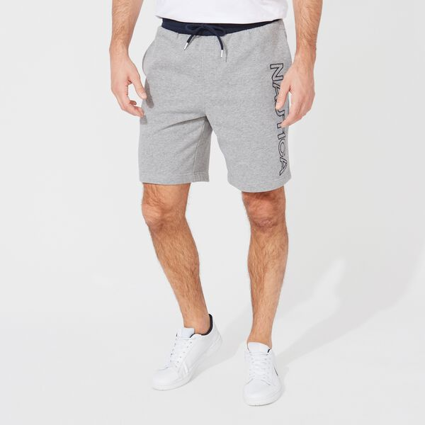 "8.5"" LOGO FLEECE SHORT - Stone Grey Heather"