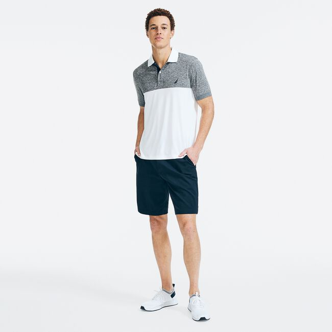 NAVTECH CLASSIC FIT COLORBLOCK POLO,Moorings Grey Heather,large