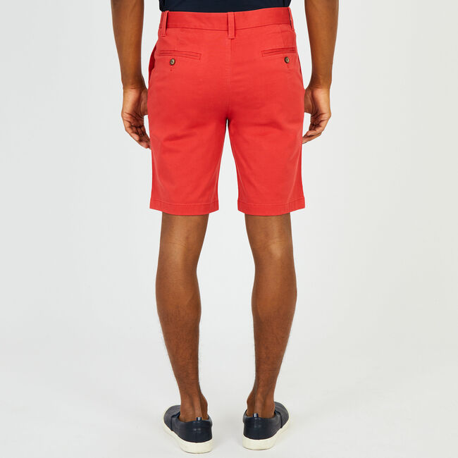 "10"" Slim Fit Stretch Deck Short,Sailor Red,large"