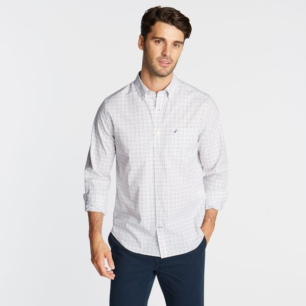 CLASSIC FIT WRINKLE RESISTANT SHIRT IN PLAID - Bright White