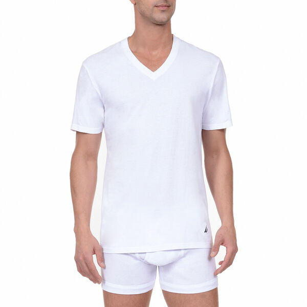 V-Neck T-Shirts, 3-Pack - Bright White