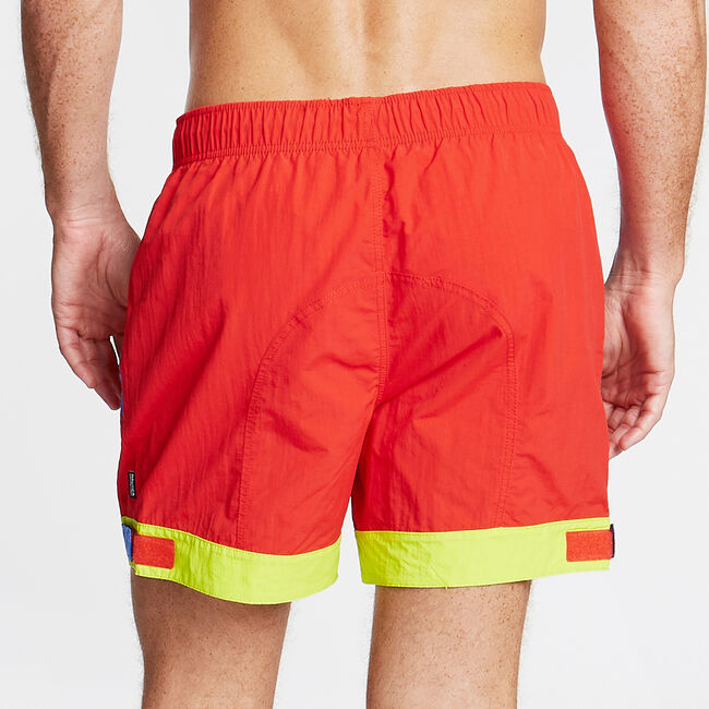 Big & Tall Competition Colorblock Swim Trunks,Firey Red,large