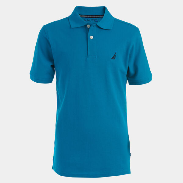 BOYS' J-CLASS ANCHOR POLO (8-20) - Dark Pine