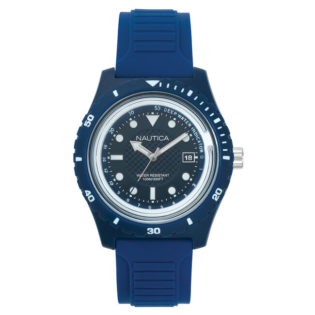 Ibiza Navy Resin Watch,Multi,large