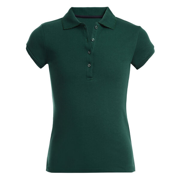 Girls' Short Sleeve Polo (7-16) - Verdant Green