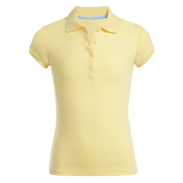 Girls' Short Sleeve Polo (7-16) - Sun Haze