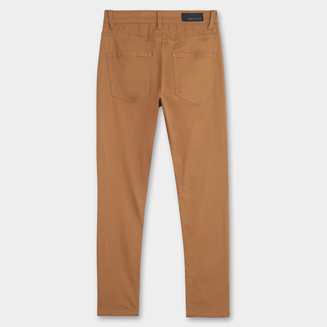 BOY'S 5-POCKET STRETCH TWILL PANT (2T - 4T),Bronzed Yacht,large