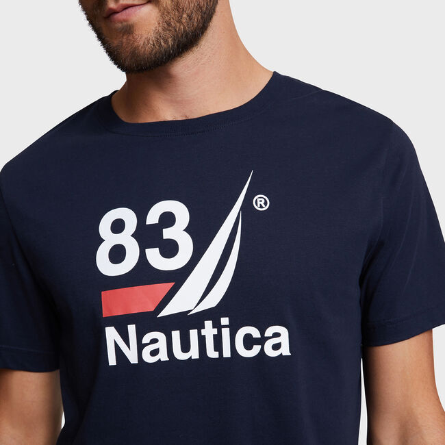 J-Class '83 Sleep T-Shirt,Navy,large