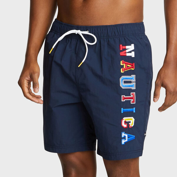 "8"" Full-Elastic Swim Short - Navy"