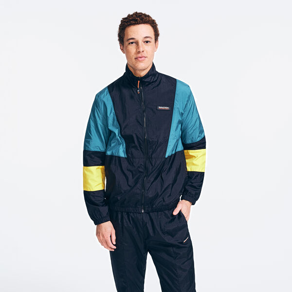 COMPETITION COLORBLOCK TRACK JACKET - True Black
