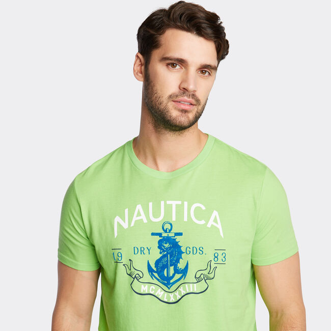 NAUTICA DRY GOODS GRAPHIC T-SHIRT,Freshlime,large