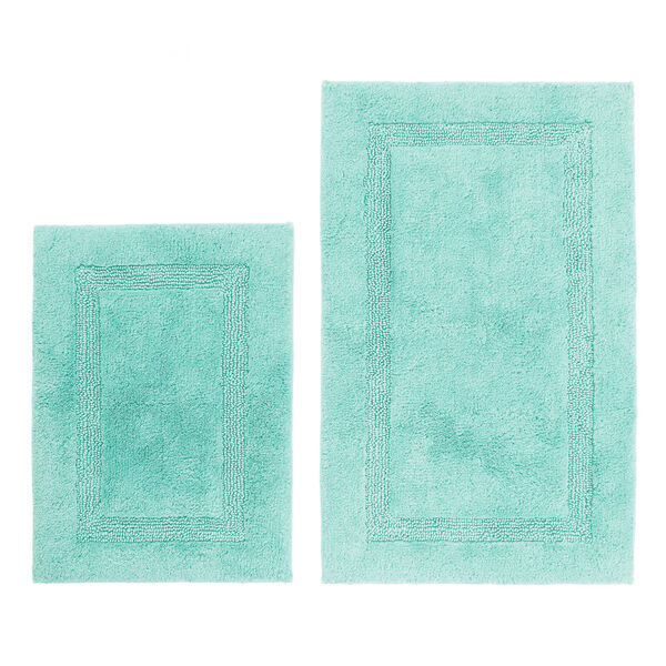 Peniston Turquoise Bath Rug Set - Sapphire/Pitch Yellow