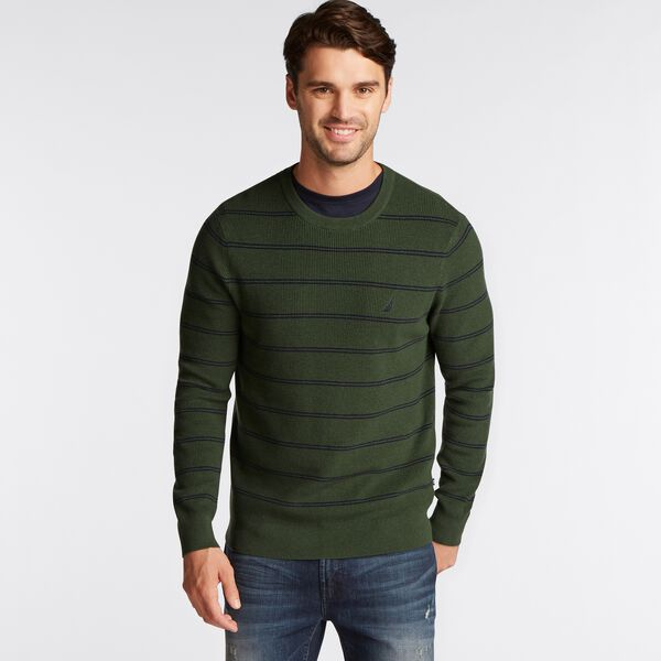 NAVTECH STRIPED CREWNECK SWEATER - Pineforest