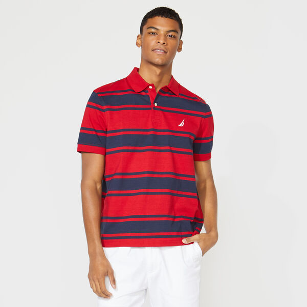 CLASSIC FIT STRIPED POLO - Nautica Red