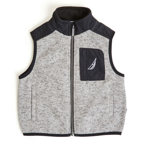 Little Boys' Jaxon Nautex Fleece Sweater Vest (4-7) - Grey Heather