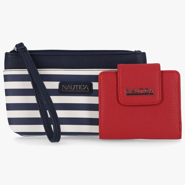 STRIPED LOGO EMBOSSED GIFT SET WITH BOX - Nautica Red