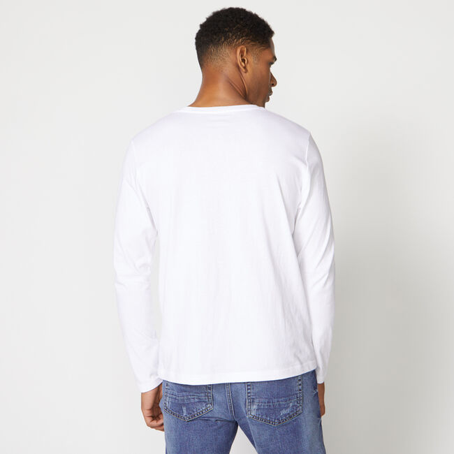 COMPETITION LONG SLEEVE GRAPHIC TEE,Bright White,large