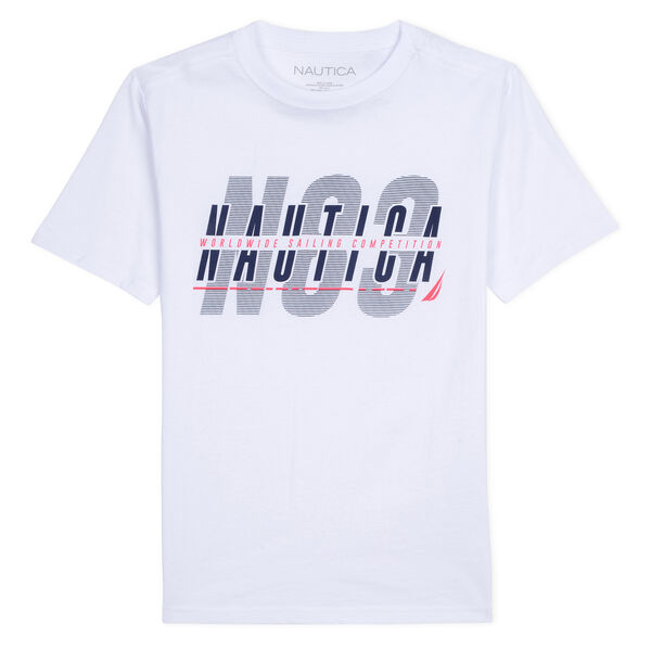 BOYS' COMPETITION SAMUEL T-SHIRT IN GRAPHIC (8-20) - White