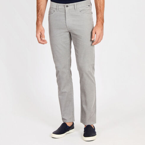Straight Fit Corduroy 5-Pocket Pants - Moon Rock
