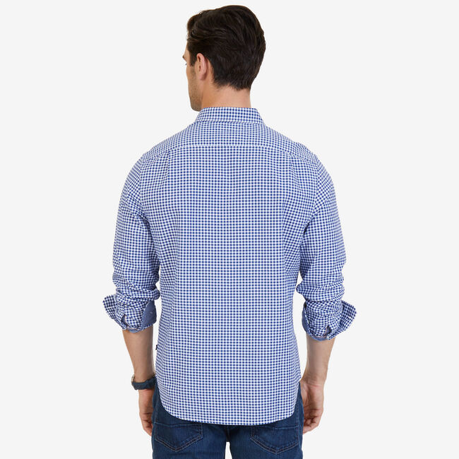 Gingham Classic Fit Button-Down Shirt,Blue Depths,large