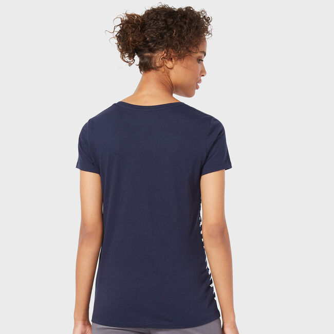 Stripe + Sequin Oh What Fun Scoop-Neck T-Shirt,Deep Sea,large