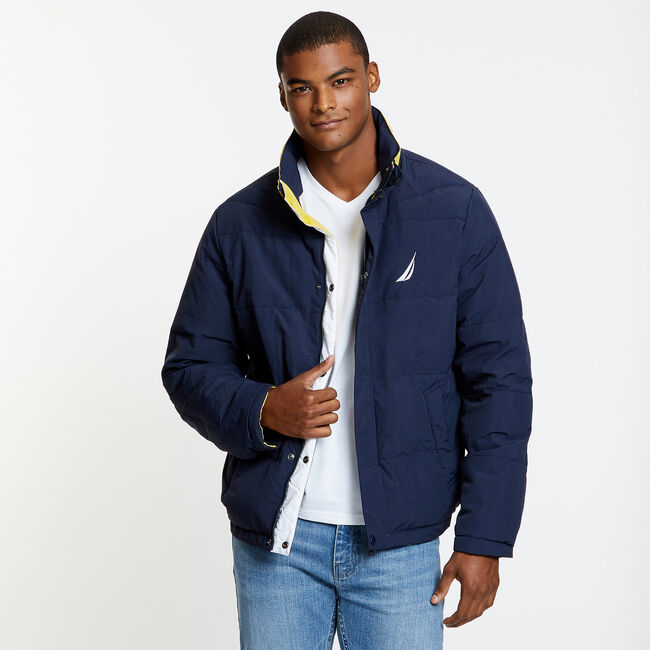 Reversible Down Jacket,Pure Dark Pacific Wash,large