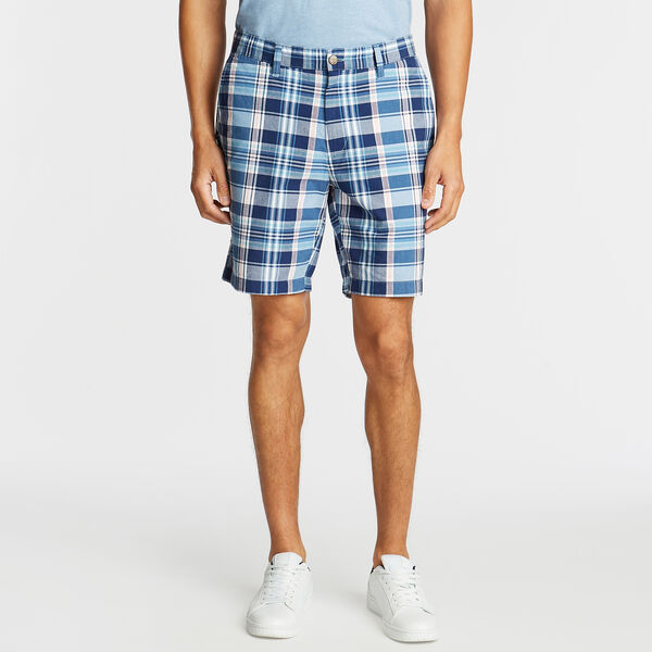 "8.5"" CLASSIC FIT SHORT IN MADRAS PLAID - Riviera Blue"