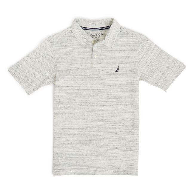 Toddler Boys' Winston Brushed Jersey Polo (2T-4T),Oat,large