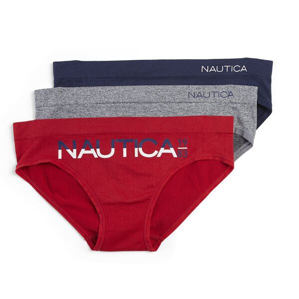 LOGO GRAPHIC BRIEFS, 3-PACK - Nautica Red