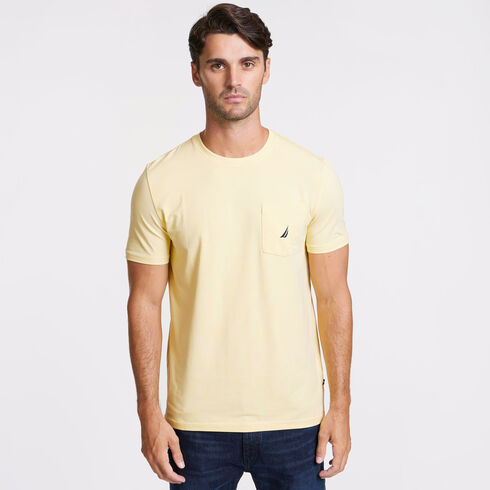 Short Sleeve Crewneck Pocket T-Shirt - Light Mimosa