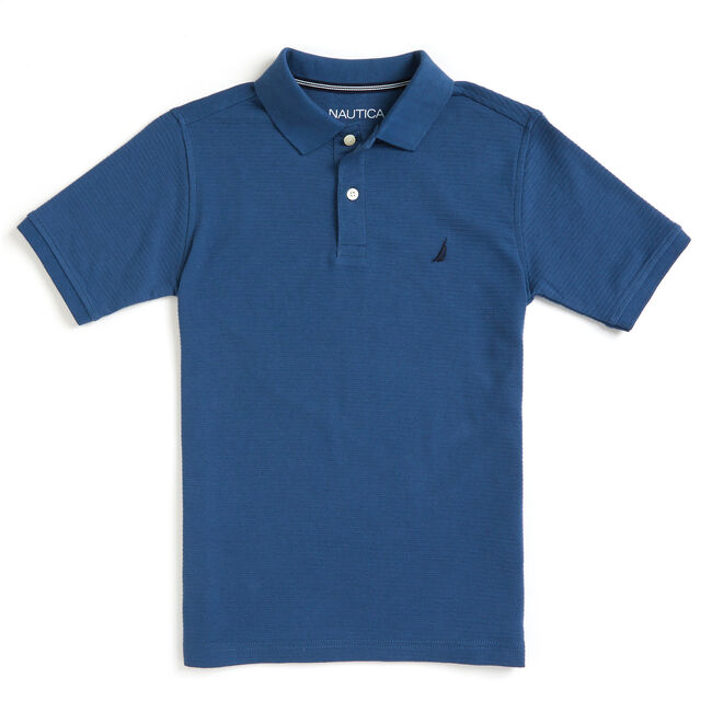 Toddler Boys' Baron Ottoman Striped Deck Polo (2T-4T),Capri Blue,large