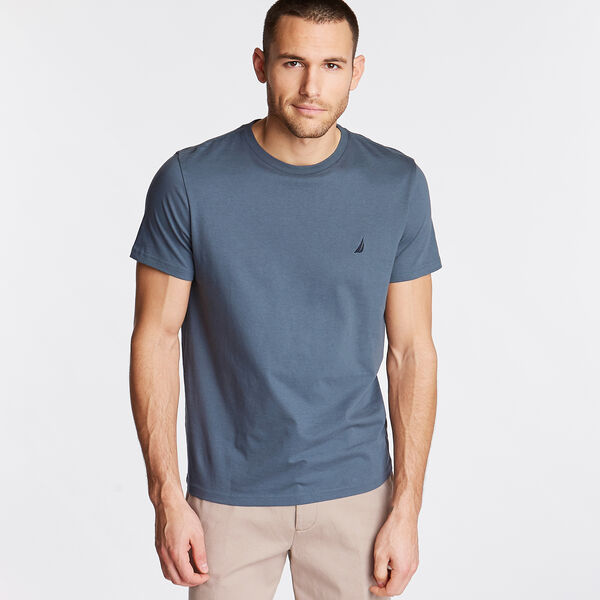 Solid Short Sleeve Crewneck T-Shirt - Runway Grey