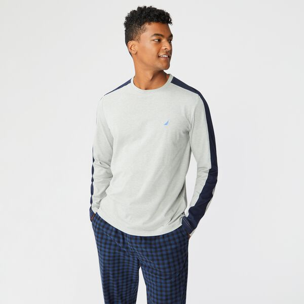 COLORBLOCK J-CLASS LONG SLEEVE SLEEP TOP - Grey Heather