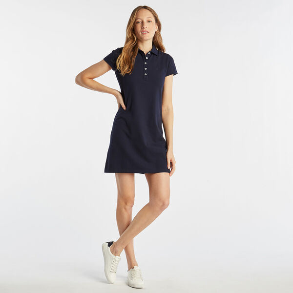Short Sleeve Polo Dress - Stellar Blue Heather